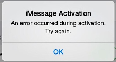remove waiting for activation error in imessage