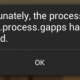 Unfortunately the process com.google.process.gapps has stopped error