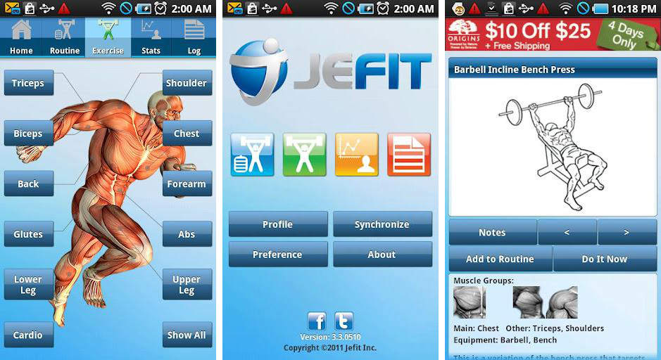 Jefit Workout Tracker Gym Log